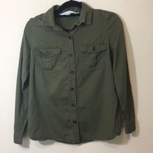Old Navy The classic shirt Sz S/ Green/ Buttons